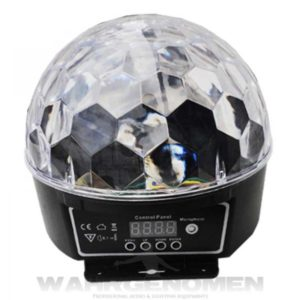 Cristal Ball Luz Disco Led wahrgenomen