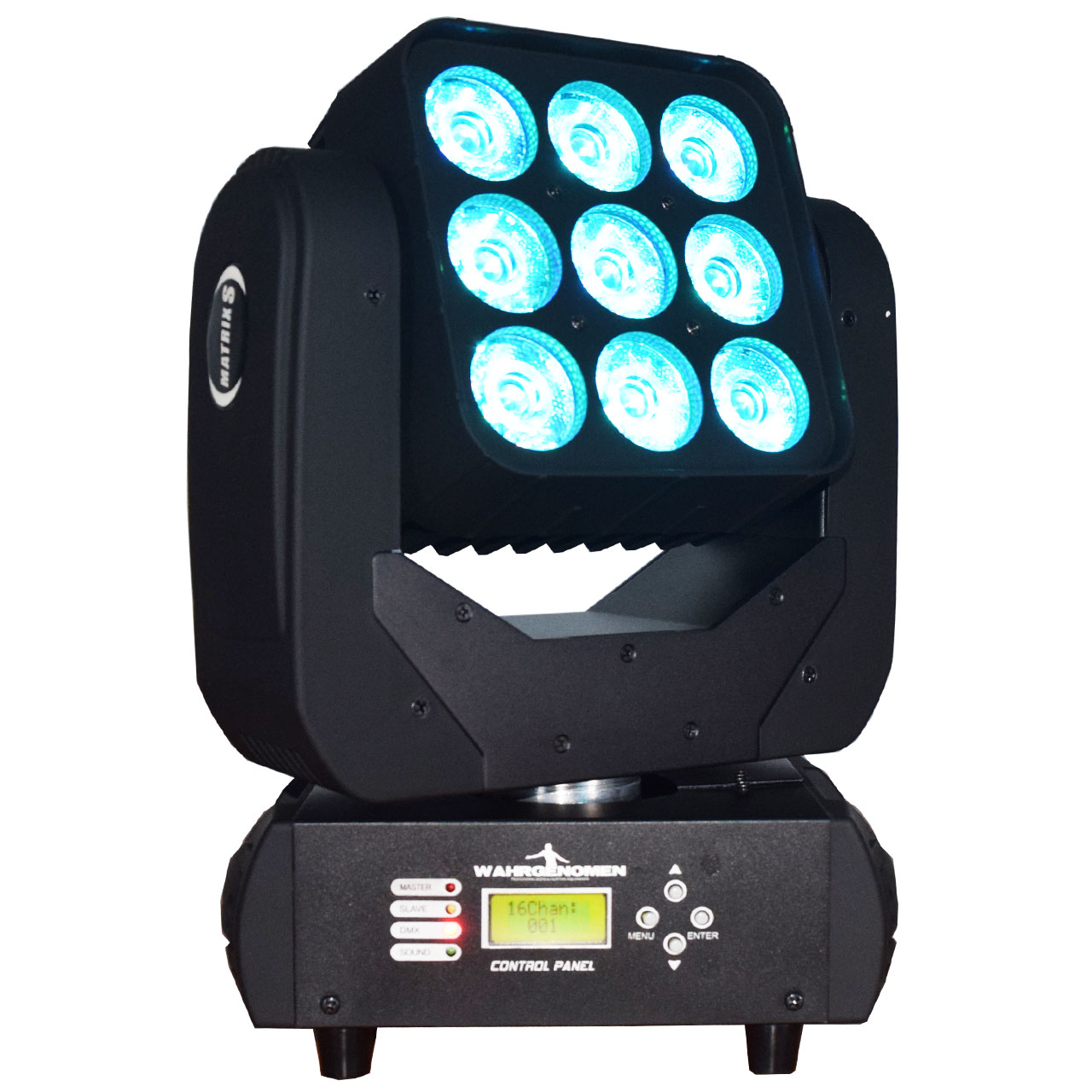MATRIX LED Cabeza móvil led wash con matriz 9 leds de 15w logo