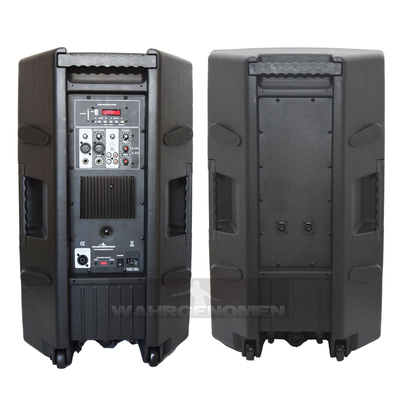 COMBO JWH516 Combo Bafle amplificado mas pasivo 15 + cables, con Bluetooth USB/SD back