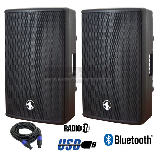 COMBO JWH516 Combo Bafle amplificado mas pasivo 15 + cables, con Bluetooth USB/SD logo